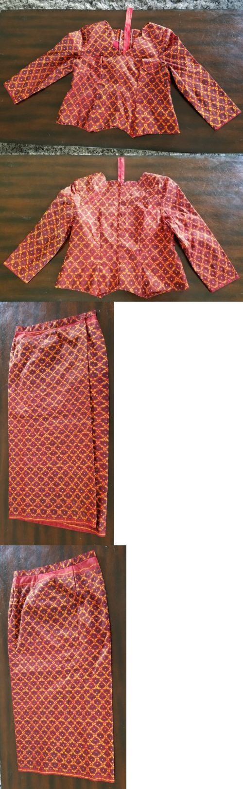 Other Asian and Pacific Clothing 155245: Khmer Traditional Whole Multi Color Size L Shirt And Skirt For Party Or Wedding -> BUY IT NOW ONLY: $85.95 on eBay!