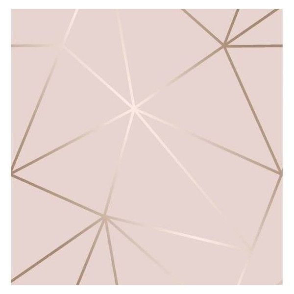 Girls Rose Gold Wallpaper: I Love Wallpaper Zara Shimmer Metallic Geometric Wallpaper
