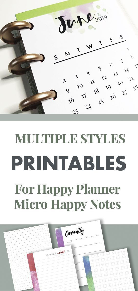 graphic relating to Happy Planner Printable Inserts named Printable Inserts for Micro Content Planner Joyful Notes