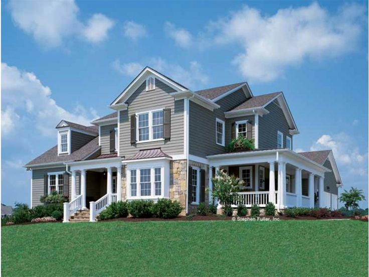 country style 2 story 4 bedroomss house plan with 2845 total square feet - 2 Story Country House Plans