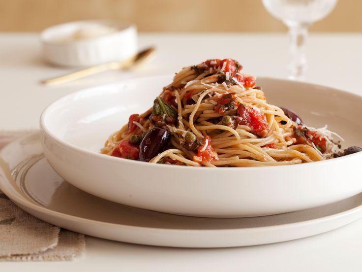 Pasta Puttanesca #Grains #VeggiesOlive Oil, Pasta Puttanesca, Yummy Recipe, Pasta Dishes, Ellie Krieger Recipe, Healthy Pasta, Food Network Recipe, Healthy Food, Puttanesca Recipe