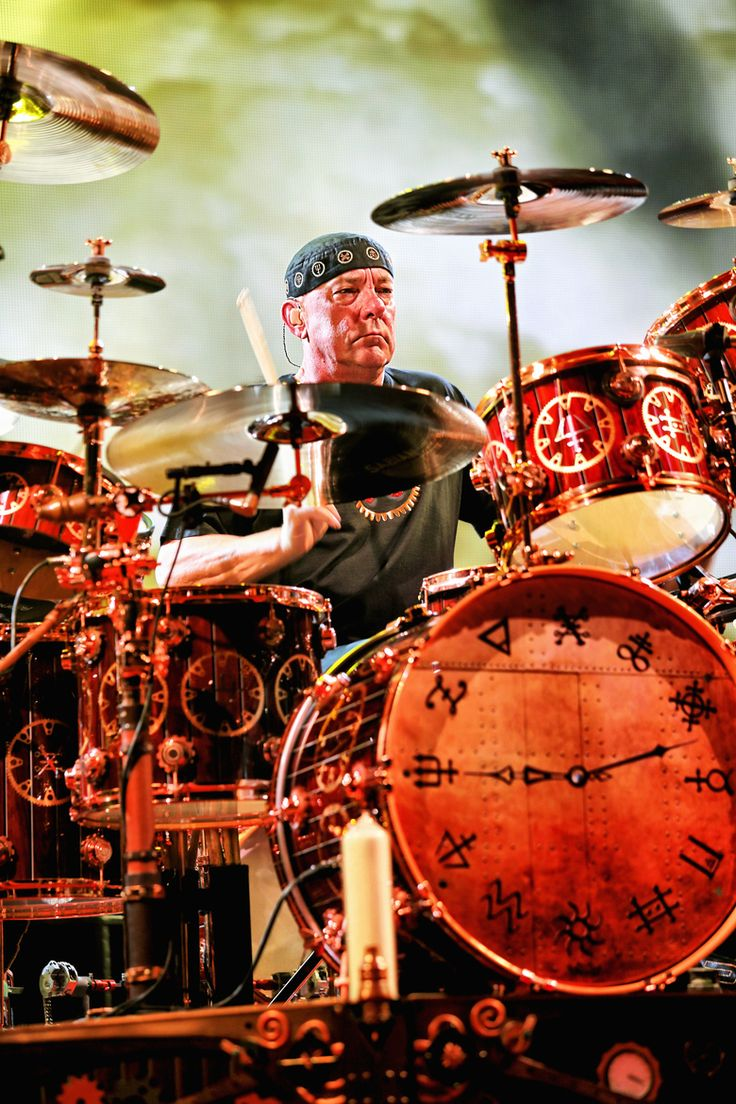 Neil Peart of Rush playing the ACC in Toronto on their tour supporting Clockwork Angels.
