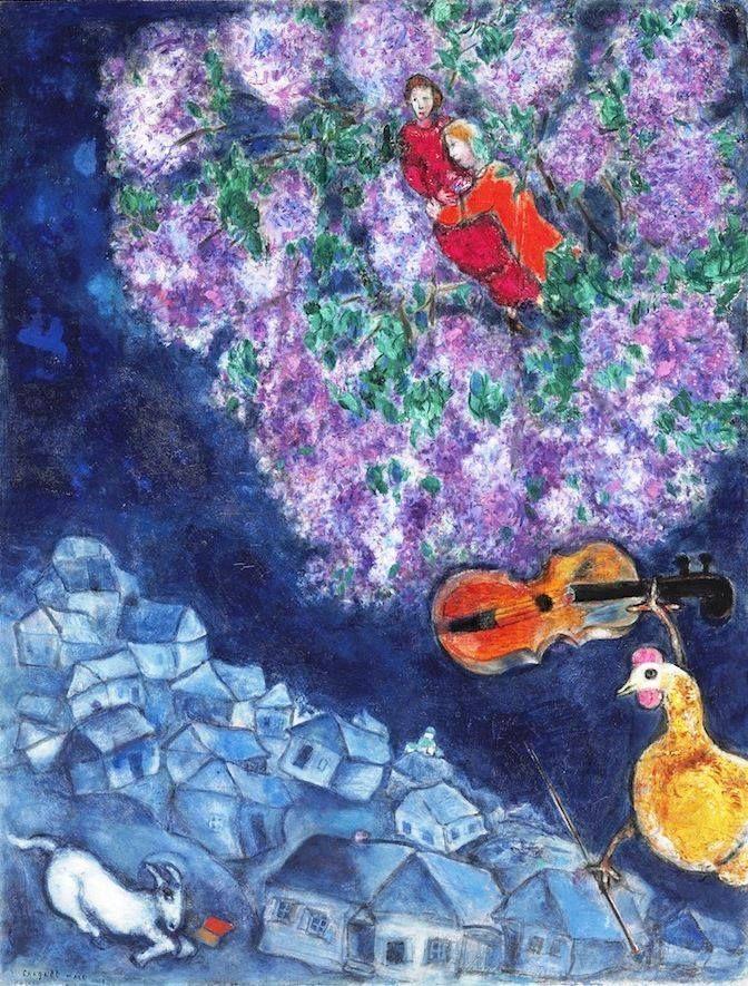 Marc Chagall, L'air bleu, 1937, olio su tela