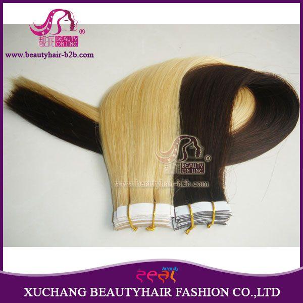 Extensões de cabelo de fita ondulado / extensões de cabelo de fita encaracolado http://www.beautyhairextension.pt/product/show-24-wavy-hair-tape-extensions.html