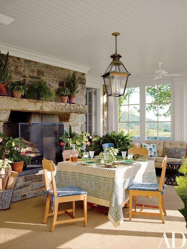 A Picturesque New York Farmhouse Embodies Historical Elegance. Farmhouse Dining  RoomsSunroom ...