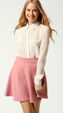 Sindy Pearl Front + Collar Shirt