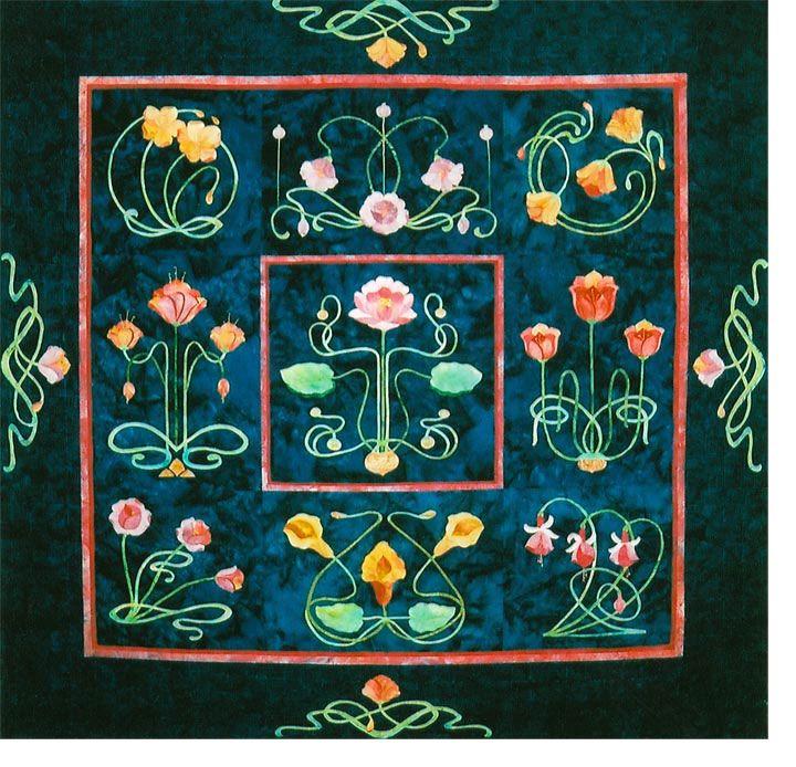 Best quilts art nouveau images on pinterest deco