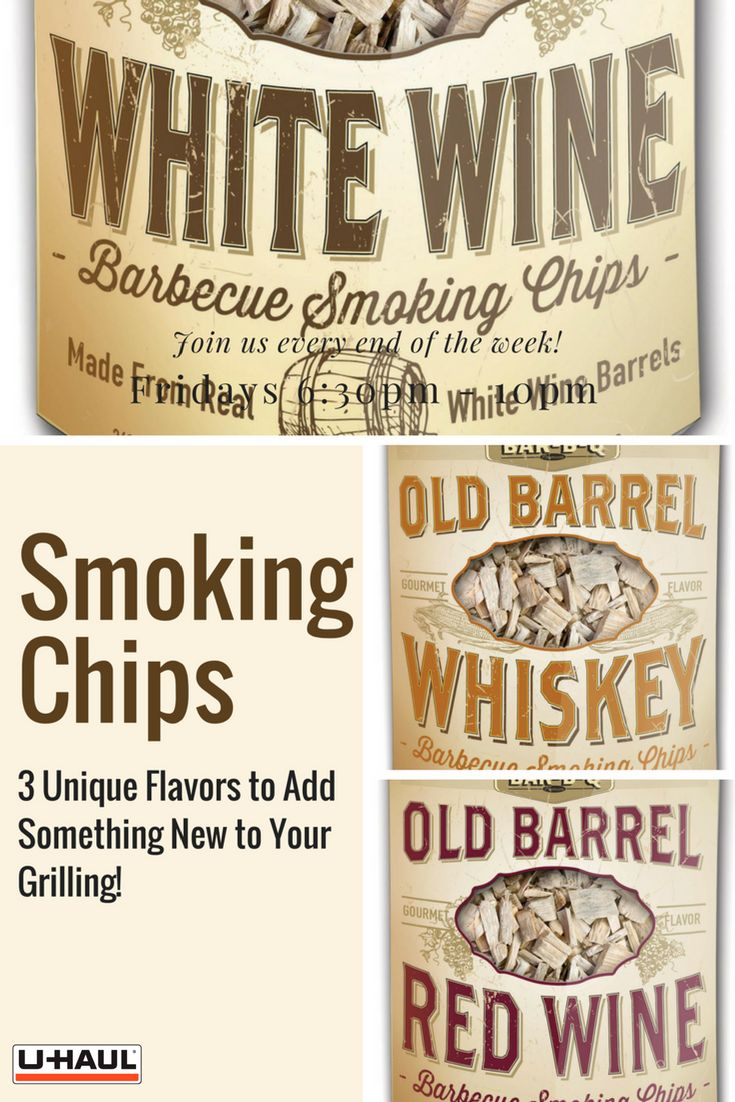 Use these smoking chips to add a wood smoke flavor to your meat. Flavors come in whiskey, white wine or red wine to add a unique wood smoked taste to your next grilling day. Click through to purchase now! | Grilling