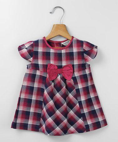 Pink & Purple Bow Babydoll Dress - Infant & Toddler by Beebay #zulily #zulilyfinds