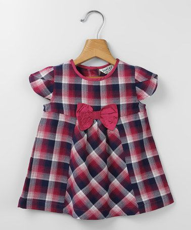 Pink & Purple Bow Babydoll Dress - Infant & Toddler by Beebay #zulily #zulilyfinds