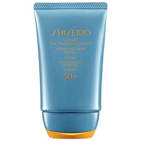 Shiseido: Ultimate Sun Protection Cream  Broad Spectrum SPF 50  For Face  Un protector solar altamente poderoso y nutritivo para el rostro.