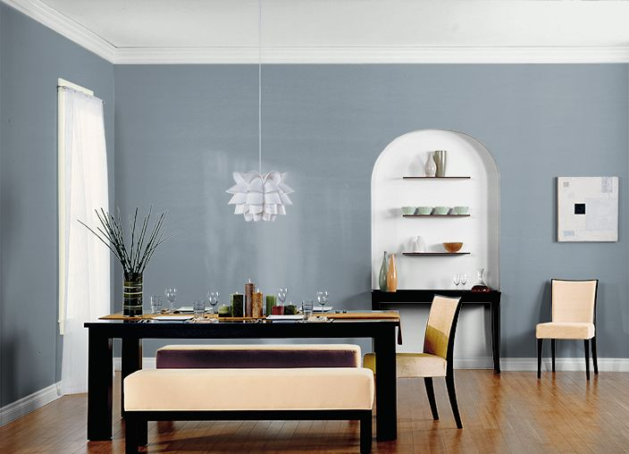 Paint color for dining room teton blue behr dining Front room paint colors