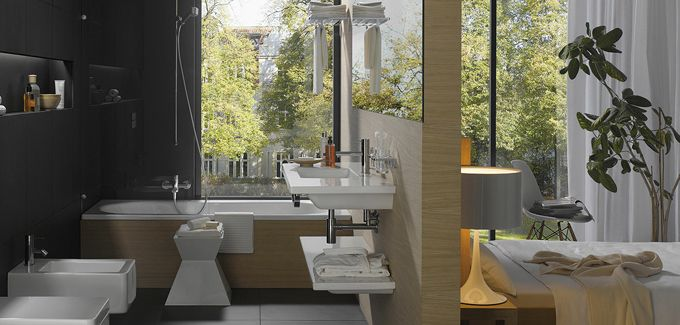 19 best Salle de bain ouverte images on Pinterest | Bathrooms ...