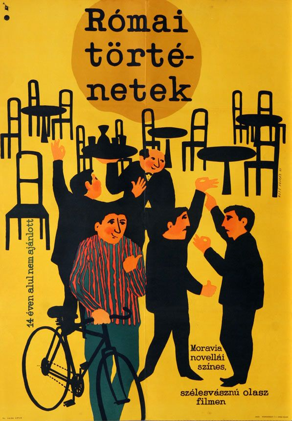 Római történetek - Hungarian vintage movie poster (original title) Racconti romani
