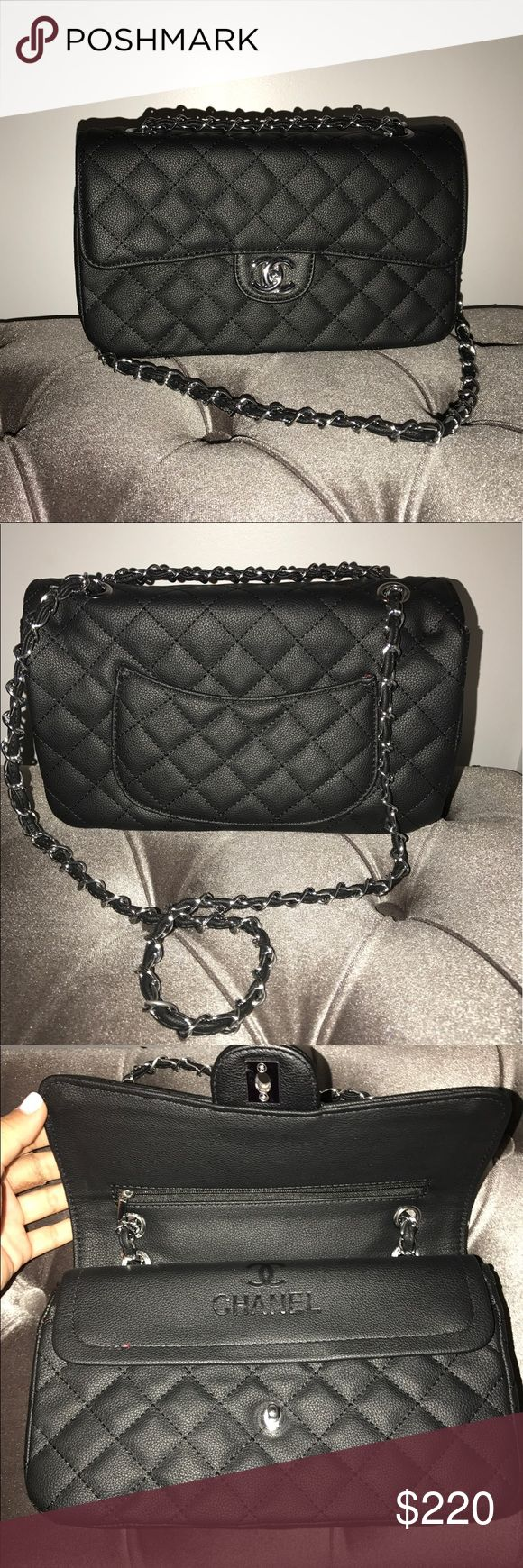 Flap bag hobo bag Comes in the color black. 100% Brand new. Never been used before. Faux leather material. Made in China. This is a size small. Louis Vuitton Bags Hobos