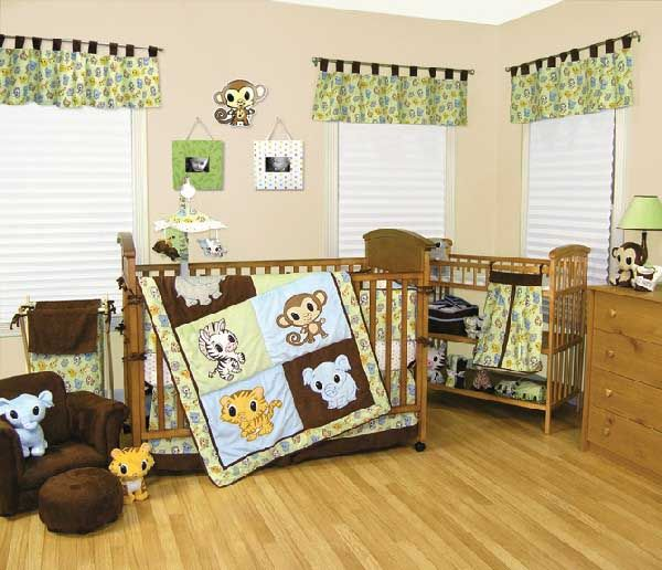 Baby Nursery. Mesmerizing Baby Room Design Ideas: Inspiring Cute Babys Bedroom For Boy With Wooden Floor And All About Animal Concept ~ wegli