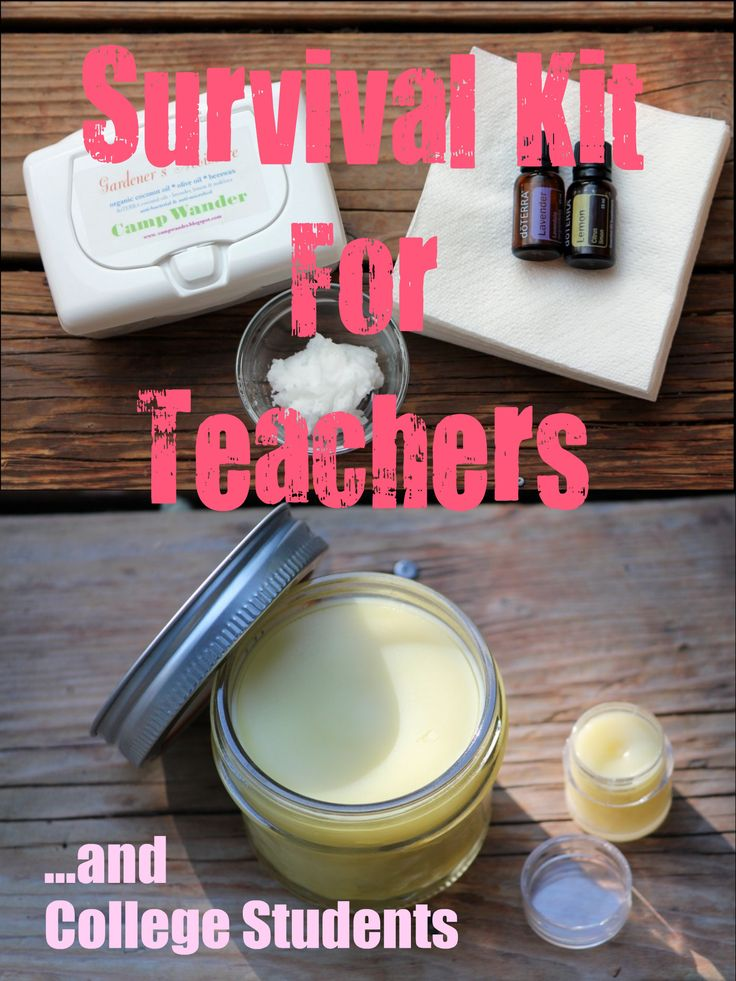 DIY Survival Kit for Teachers and College Students!: Diy Colleges Survival Kits, Essential Oil, College Students, Diy Antibacteri, Colleges Gifts, Colleges Students, Diy Survival, College Gifts, Students Teacher Survival Kits