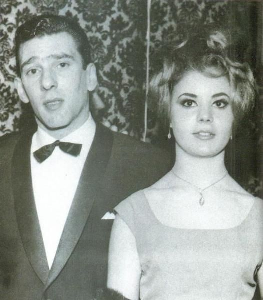 Reggie Kray and his wife Frances. Reggie and Frances met when she was just 16. They married in Bethnal Green in 1965. Their honeymoon took place in Athens, however after the honeymoon Frances moved back in with her mother. Frances was said to be a pampered doll, controlled by a possesive Reggie Kray. Reggie became obsessed with trying to get her back. Frances hated what The Kray's did, she took her own life with sleeping tablets two years after their wedding and died aged 23.