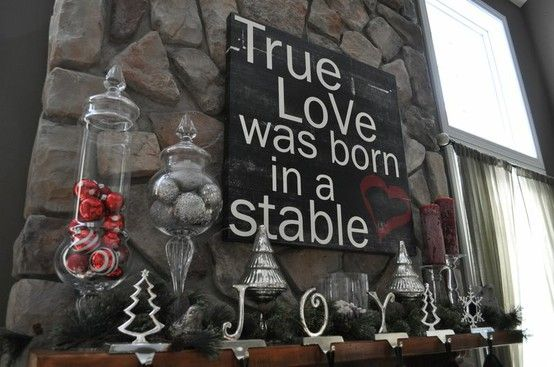 True love was born in a stable. <3