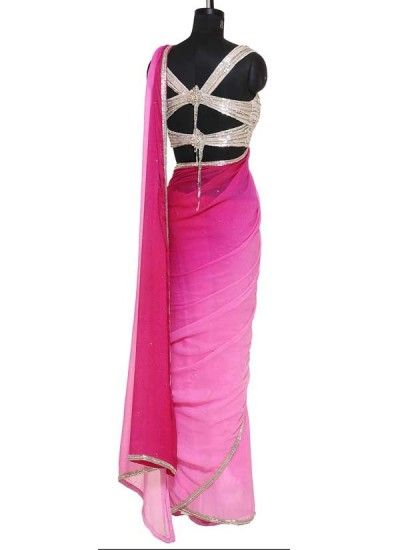 Fuchsia Shaded Saree