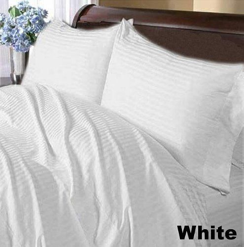 300 TC Brand New 100% Egyptian cotton Comfort Duvet cover 300 THREADS King White Stripe by pearlbedding. $89.99