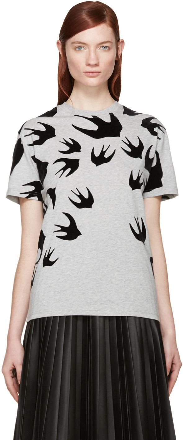 McQ Alexander Mcqueen - Grey Swallow T-Shirt