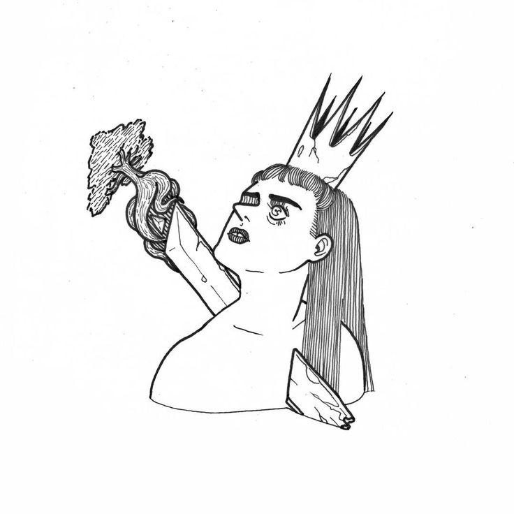 """200 Me gusta, 7 comentarios - Ice Queen, for you🌛 (@em.victtoria) en Instagram: """"Ya llegará quien te quitará la espada o el que te siga enterrando más. #art #illustration #drawing…"""""""