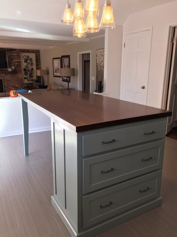 Kitchen Island With Seating And Tapered Legs Kitchen Island