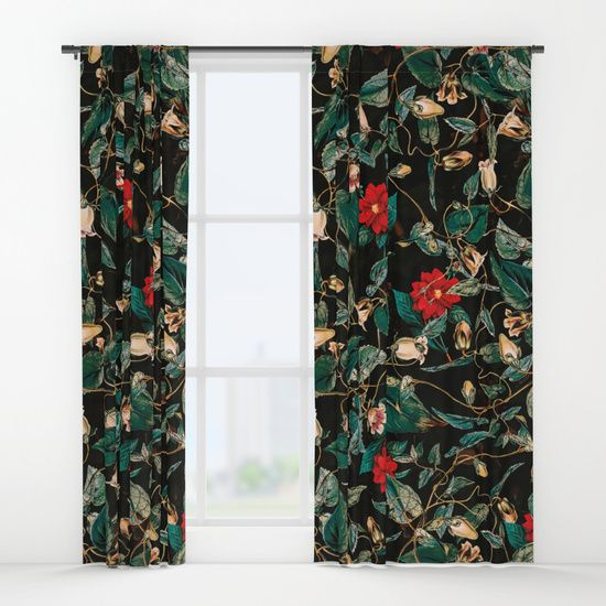 Check out society6curated.com for more! I am a part of the society6 curators program and each purchase through these links will help out myself and other artists. Thanks for looking! @society6 #society6 #floral #flowers #floralpattern #beautiful #pretty #nature #homesweethome #homedecor #apartment #dorm #apartmentgoals #windows #windowcurtains #curtains #buy #shop #buyart #artforsale #decorate #decor #decoration #sunny #cool #tropical #night #red #green #black #dark