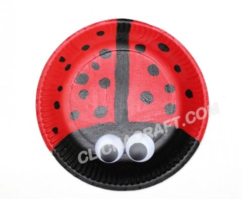 Paper Plate Ladybug - Craft Idea for Kids (only picture)