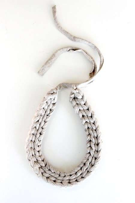 Collar de trapillo: Fotos de diseños - Actividades de trapillo, modelo de collar corto