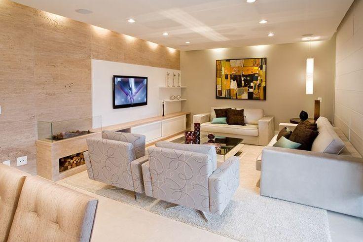 Decor Salteado - Blog de Decoração | Arquitetura | Construção | Paisagismo: Salas de TV – veja 30 modelos lindos e dicas decoração!