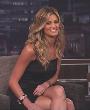 Erin Andrews (born: May 4, 1978, Lewiston, ME, USA) is an American sportscaster, journalist, and television host. She currently hosts FOX College Football for Fox Sports as well as Dancing with the Stars for ABC.