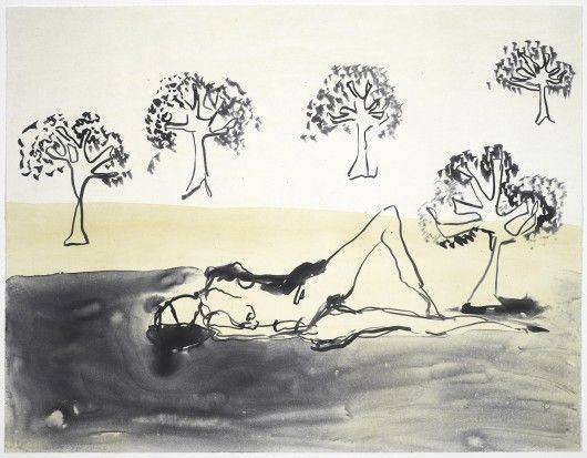 Tracey Emin Laying with the Olive Trees (2011)