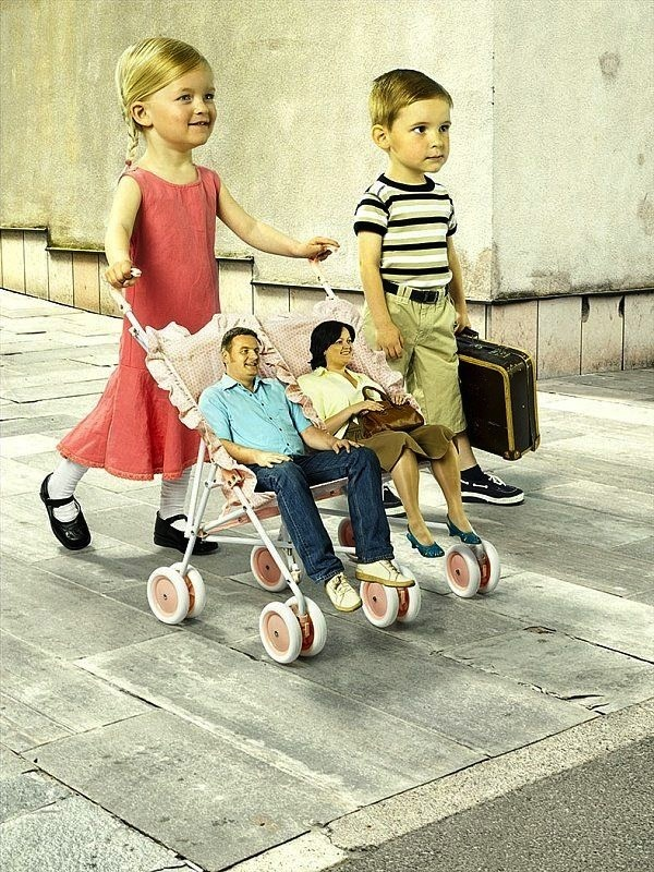 Surreal Photo Manipulation Artworks , baby carriage: