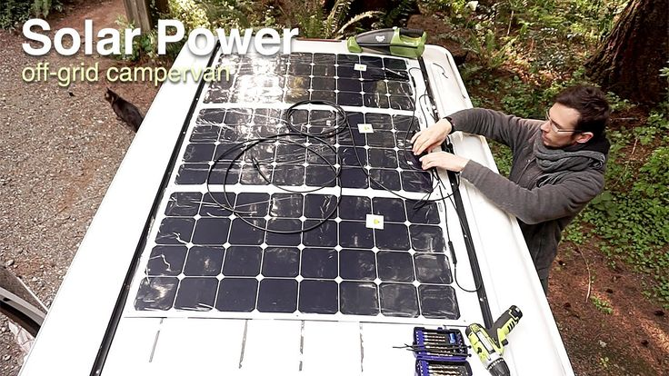 Van Life - Our Amazing Solar Power Set up!  Off Grid Camper Van                                                                                                                                                                                 More
