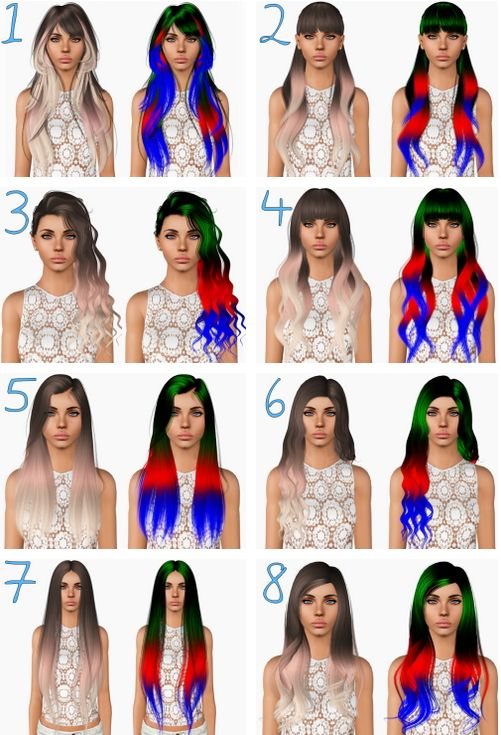 Alesso`s hairstyles retextured by Plumbombshell for Sims 3 - Sims Hairs - http://simshairs.com/alessos-hairstyles-retextured-by-plumbombshell/