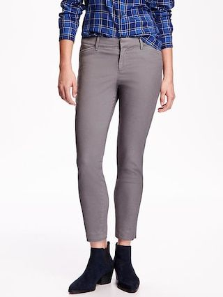 Mid-Rise Pixie Chinos for Women Old Navy
