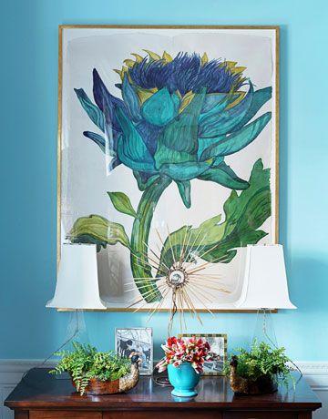 Sarah Graham's ravishing painting Artichoke - Bunny Williams Kips Bay Show House