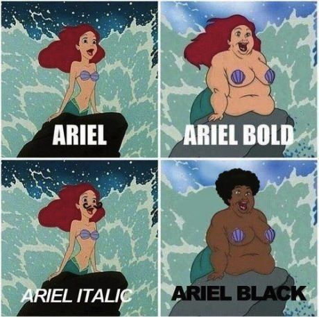 Know your fonts.