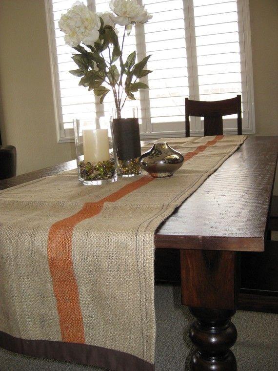 Modern Burlap Table Runner <3 Love.