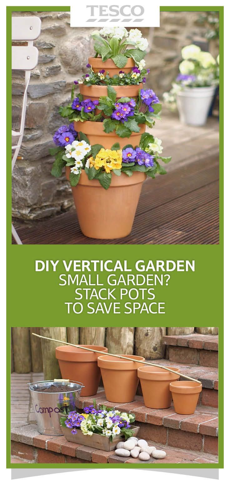 Extra large terracotta pots - How To Make A Diy Vertical Pot Stacker