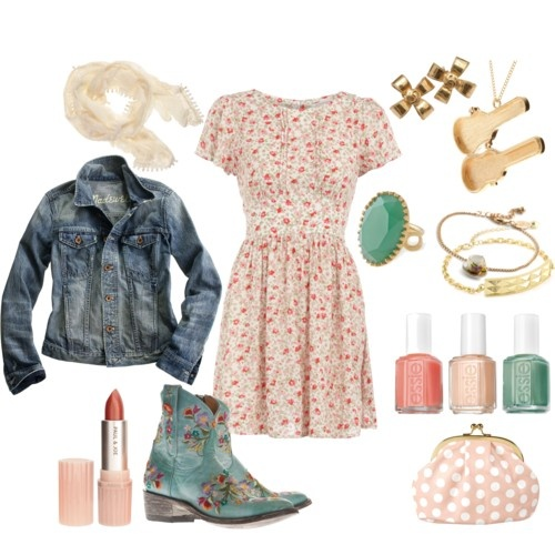 Country Strong...except for boots, would wear knee high buckle boots