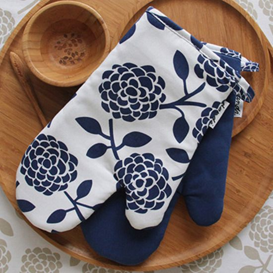 Dandi Oven Mitts Navy | Krinkle - Homewares & Gifts
