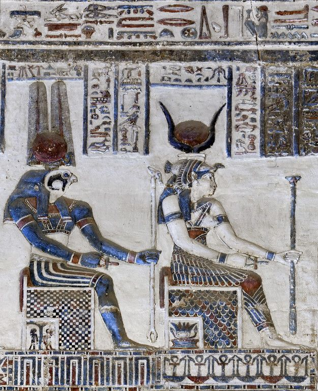 Egypt: Temple of Dendera - Paul Smit | Mick Palarczyk  (Hathor and Montu in Dendera.)