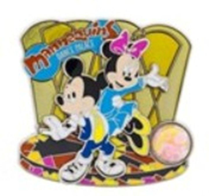 Mickey & Minnie Mouse Mannequins Dance Palace Piece of Walt Disney World History Pin