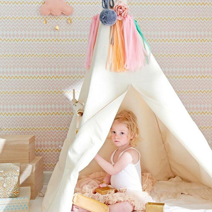 Pomysl na pokój dziecięcy w pastelowych kolorach.