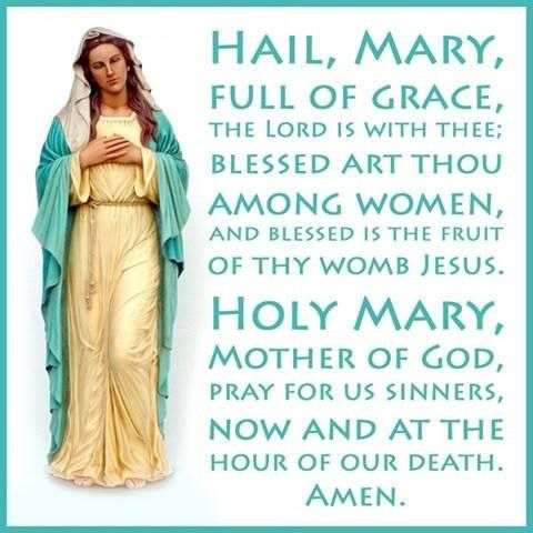 THE HAIL MARY ~ AMEN. I did not grow up Catholic. But during my late twenties I discovered the power of the Rosary and it's enchanting prayer. I found much solace in this act of prayer...