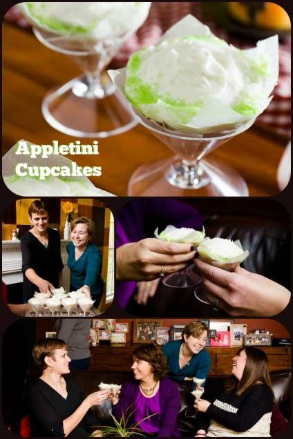 Superb Appletini Cupcakes