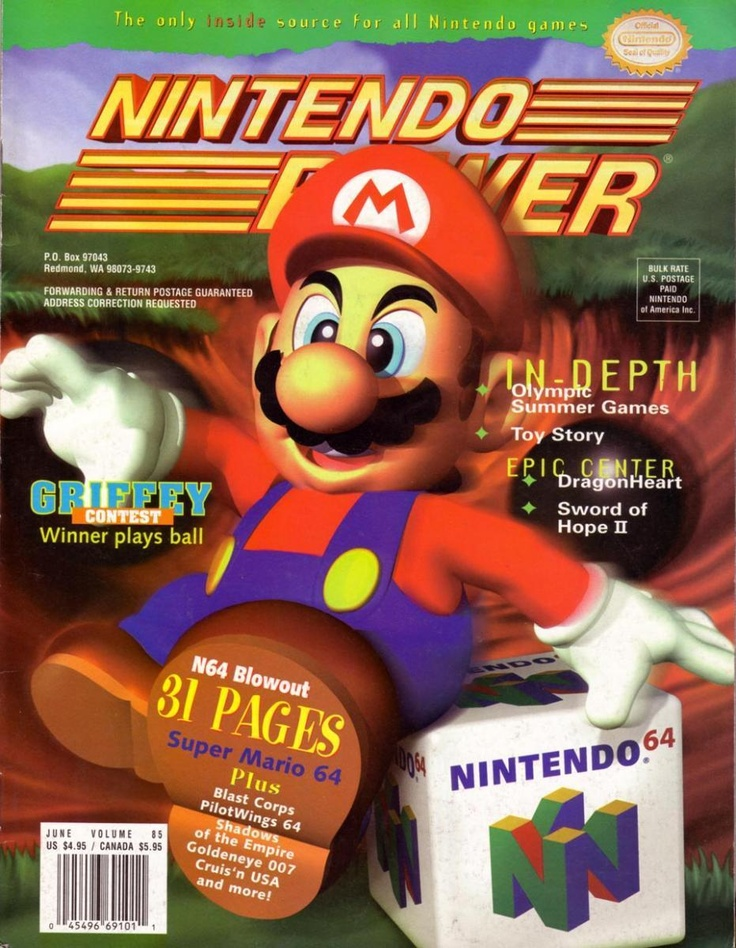 Image result for nintendo power magazine nintendo 64 announcement